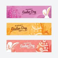 Happy Easter Day Banner vector