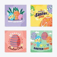 Happy Easter Day Social Media Post vector