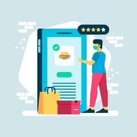 UNTACT Technology with Ordering Food Scene vector