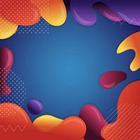 Colorful Melting Fluids Abstract Background vector