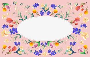 Beautiful Colorful Summer Flowers vector