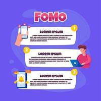 Fomo Infographic Illustration vector