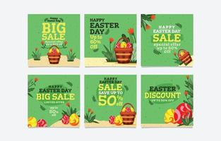 Easter Day Sale Social Media Banner vector