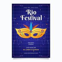 cartel del festival de río vector