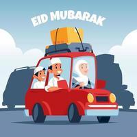 Eid Family Tradition vector
