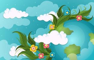 Back To Nature Background vector