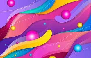 fondo colorido de la onda vector