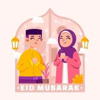 Eid Mubarak Illustration Concept vector