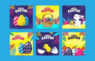Easter Social Media Post Template vector