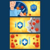 banner de vacuna corona vector