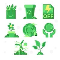 Green Care Global Warming vector