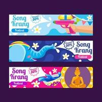 Set of Song krang Banner for Marketing Purpose vector