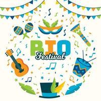 Rio Festival Concept Design vector