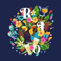 Rio Carnival Illustration vector
