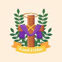 Good Friday Illustration vector