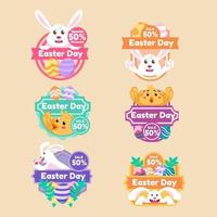 Easter Day Set of Marketing Labels vector