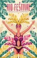 The Annual Rio Festival vector