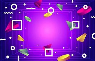 Geometric Abstract Retro Futurism Colorful Background