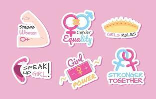Women's Day Awareness Sticker vector