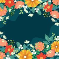 Flowers Spring Background vector