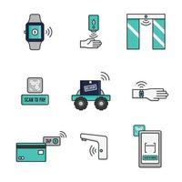 Contactless Activities for New Normal Icon vector