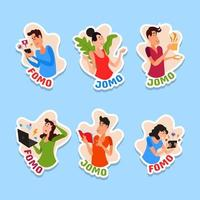 Fear and Joy of Missing Out Sticker vector