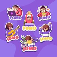 The Lifestyle of Fomo and Jomo Person vector