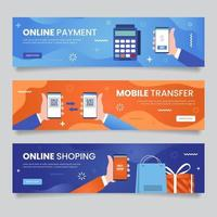 Contactless Technology Banners vector