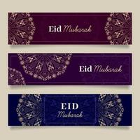 Eid Mubarak Banners vector