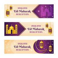 Elegant Eid Mubarak Marketing Tools Banner Set