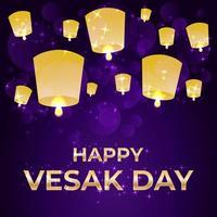 feliz día de vesak celebración ilustración vector