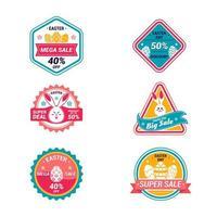 Easter Day Marketing Promotion Label Design vector