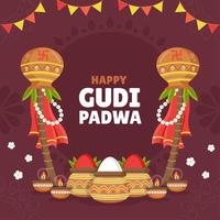 The Tranquil and Serene Gudi Padwa Festival vector