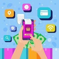 Smart Online Digital Payment Concept vector