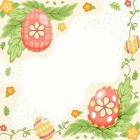 Colourful and Beautiful Easter Eggs Background vector