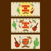 Cinco De Mayo Banner vector