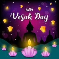 Happy Vesak Day Illustration vector