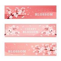 Cherry Blossom Banner vector