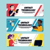 Untat Technology Banner Set vector