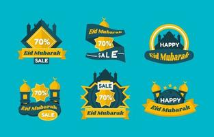Eid Marketing Label vector
