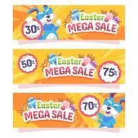 Easter Mega Sale vector