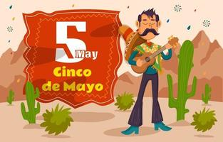 Cinco de Mayo Mexican vector