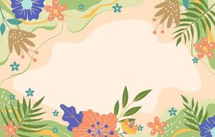 Relaxing Spring Day Background vector