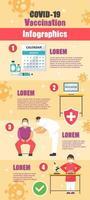 Coronavirus Vaccination Infographic vector