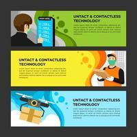 UNTACT Contactless Technology Banner Set vector