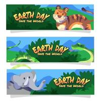 Earth Day Save World Banner vector