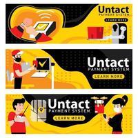 Untact Banner Concept vector