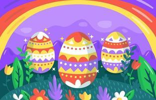 Easter Eggs Background vector