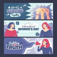 Womens Day Awareness Banner vector