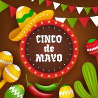 Cinco de Mayo with A Circle in The Middle vector